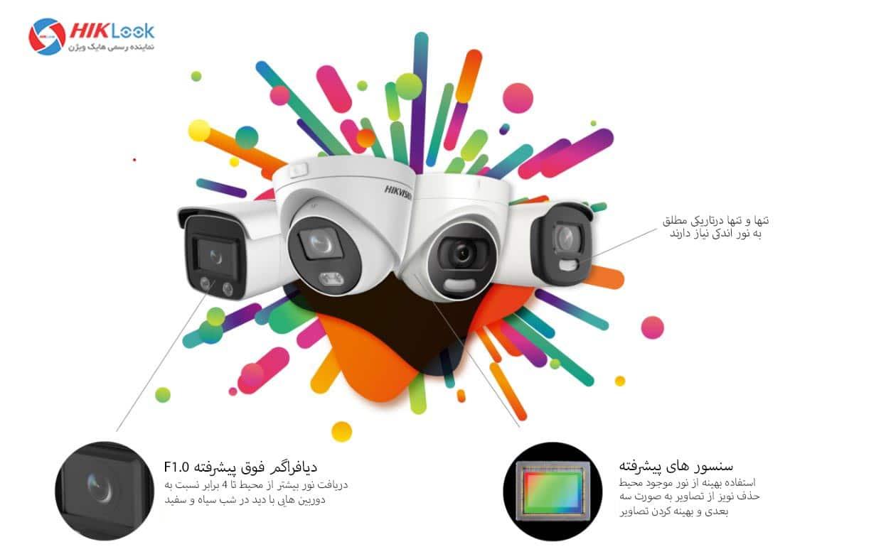 ویژگی های دوربین مداربسته دید در شب رنگی با قابلیت colorvu