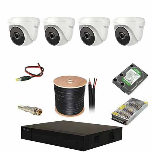 پکیج 4 دوربین هایلوک مدل 4D2MPT1