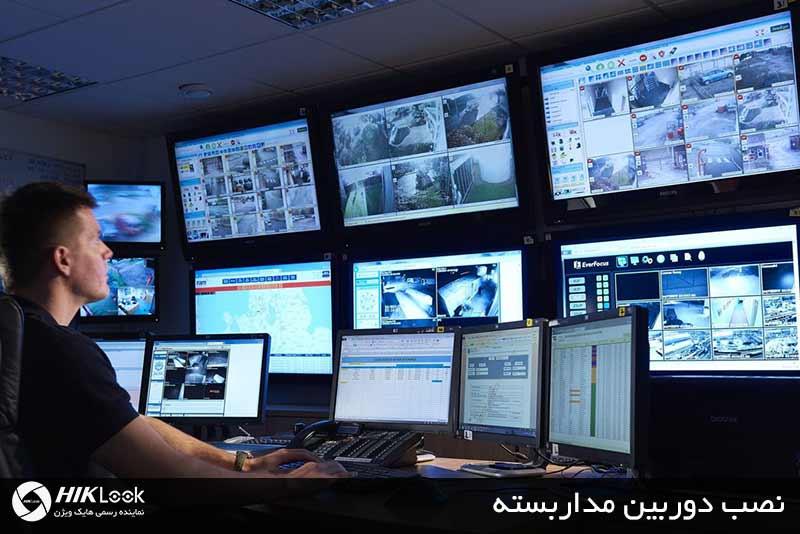 مشاهده تصاویر دوربین های نصب شده در مانیتور