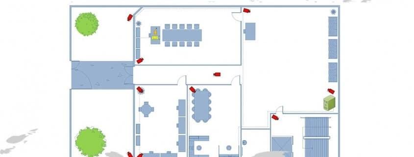 نقشه سیم کشی دوربین مدار بسته IP